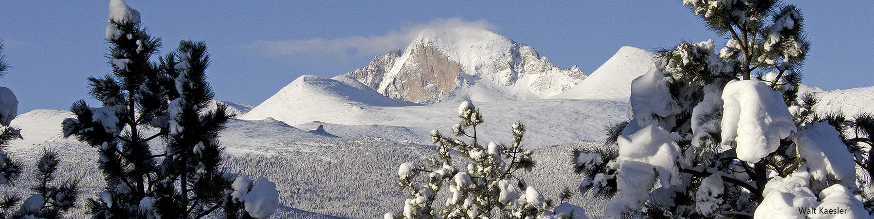 Longs Peak in Winter