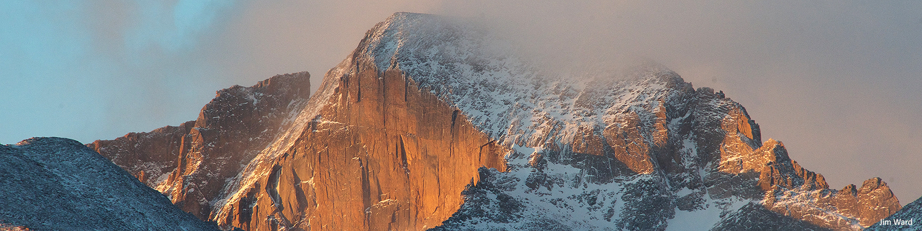 Longs Peak snow morning J Ward f