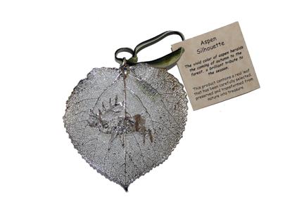 Ornament-SilverElk 4×6