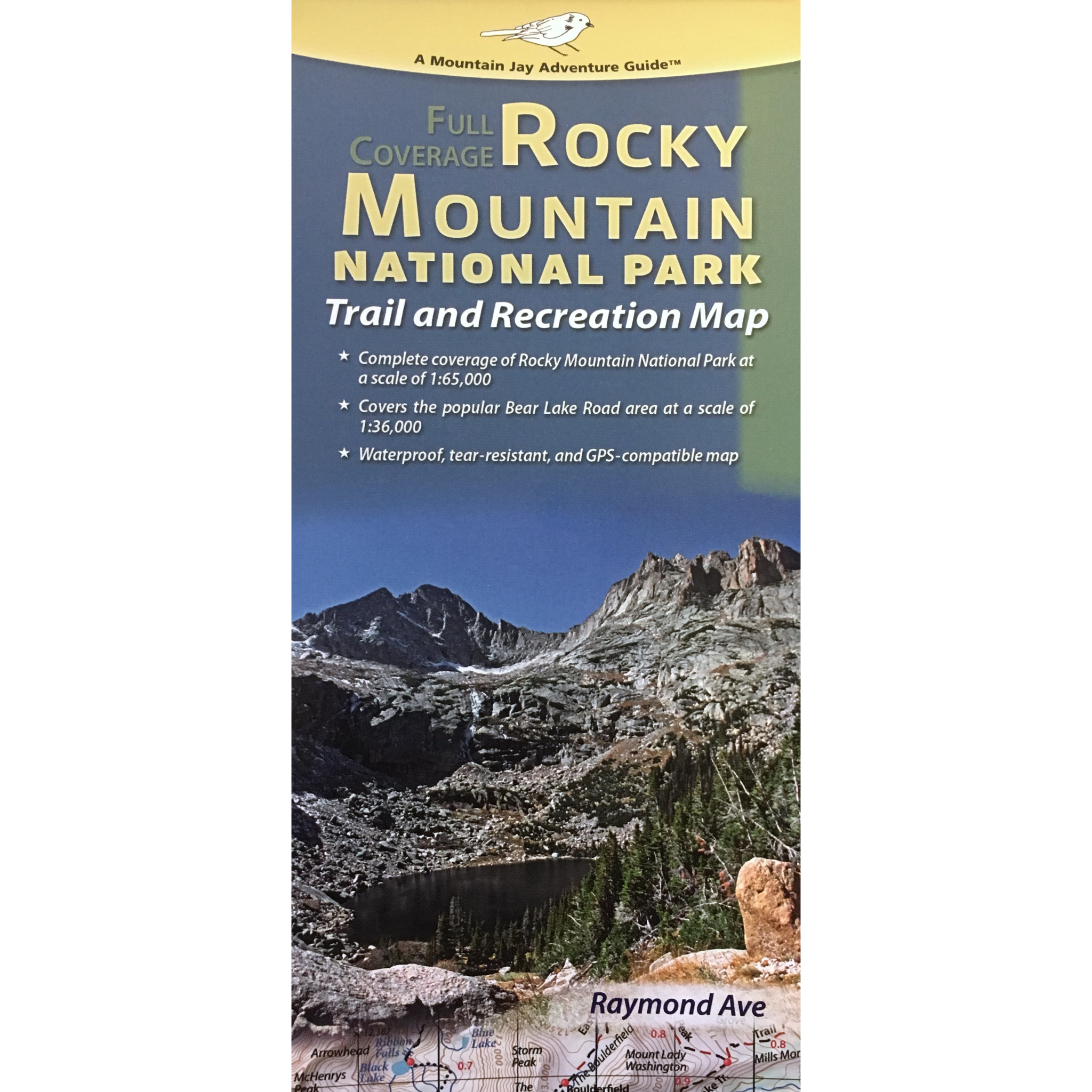 Rocky Mountain National Park Trail and Recreation Map - Rocky ...