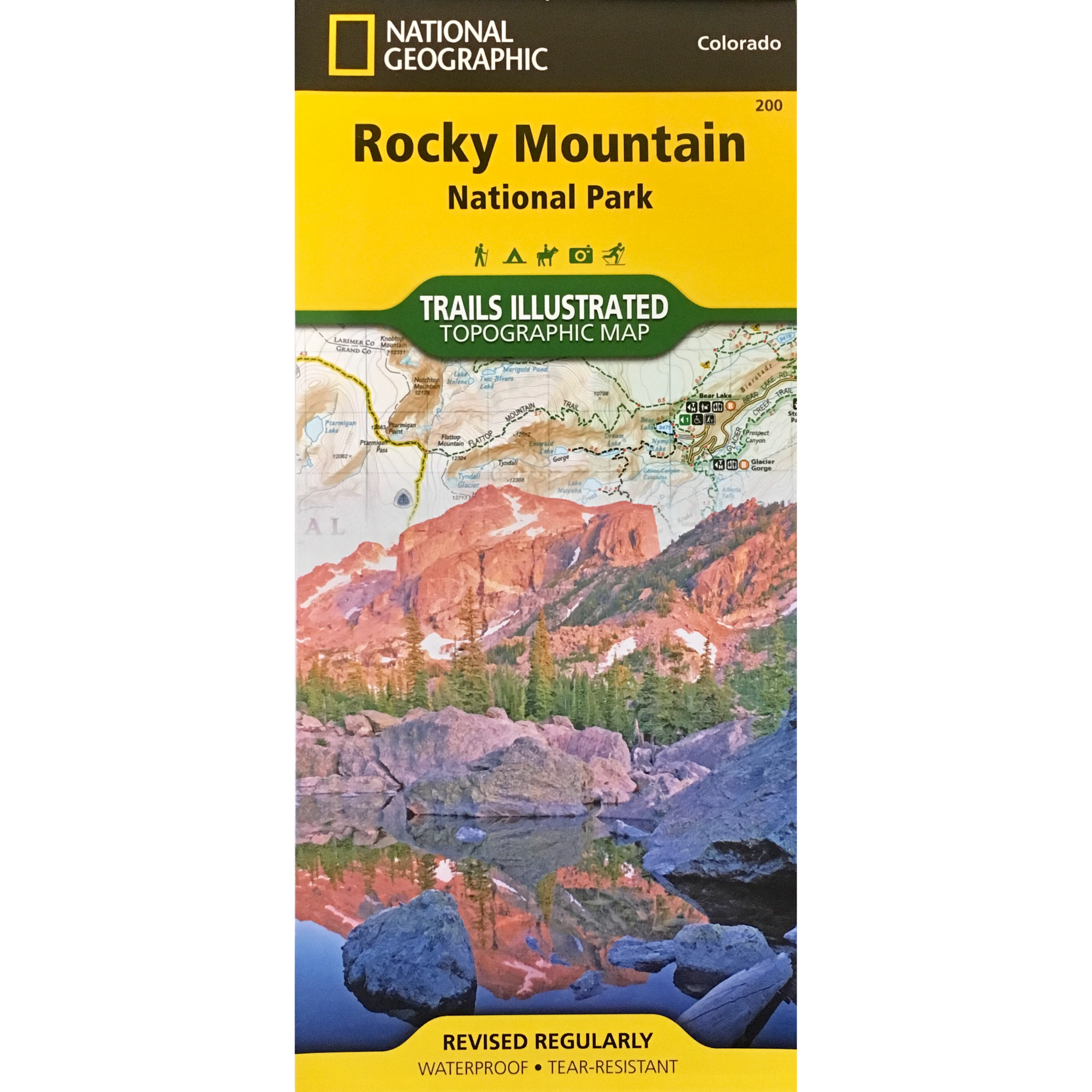 Topographic Map Rocky Mountains.Rocky Mountain National Park Trails Illustrated Topographic Map