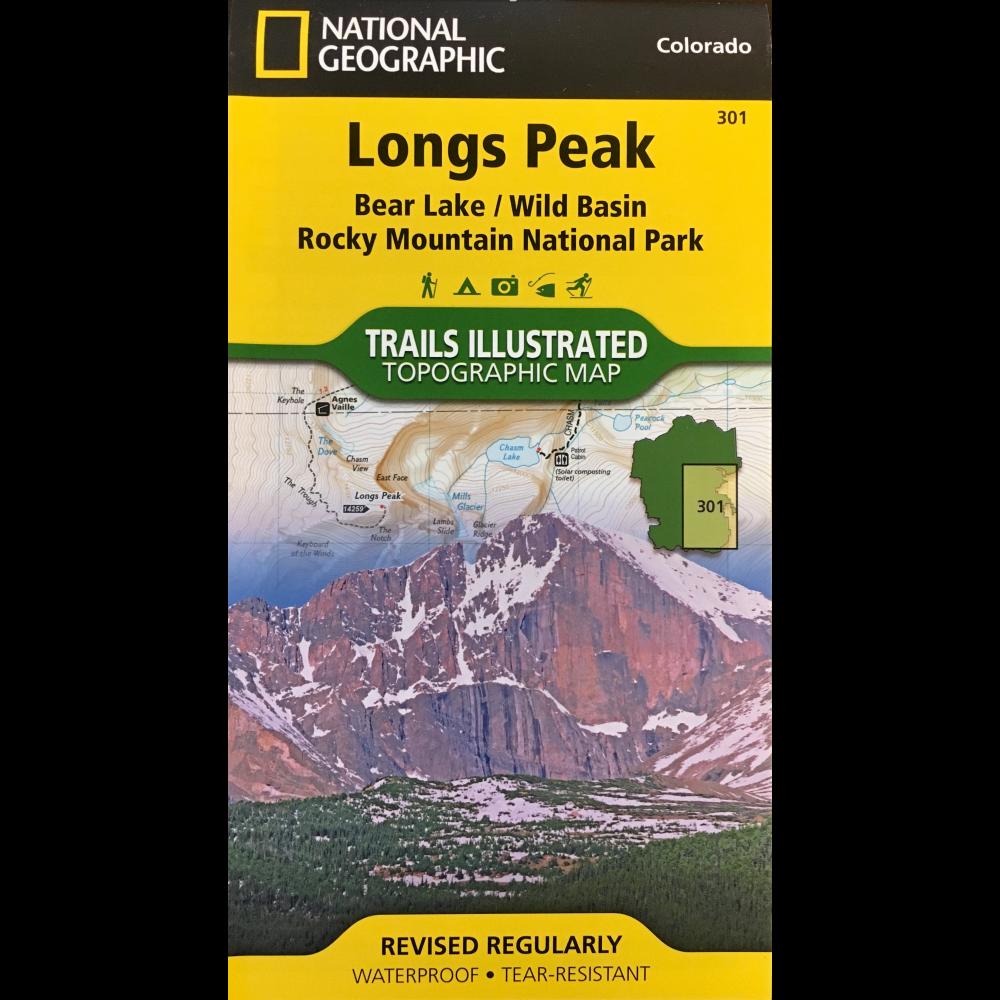 Longs Peak Bear Lake/WildBasin Trails Illustrated Topographic Map ...