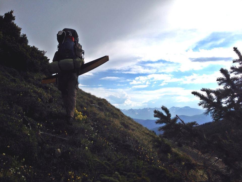 Connor Summits the ridge