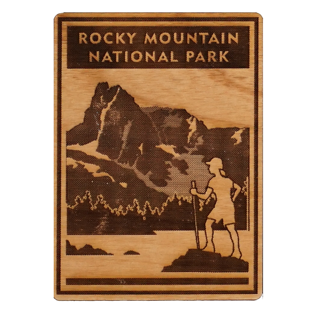 rocky mountain national park wooden magnet rocky mountain conservancy