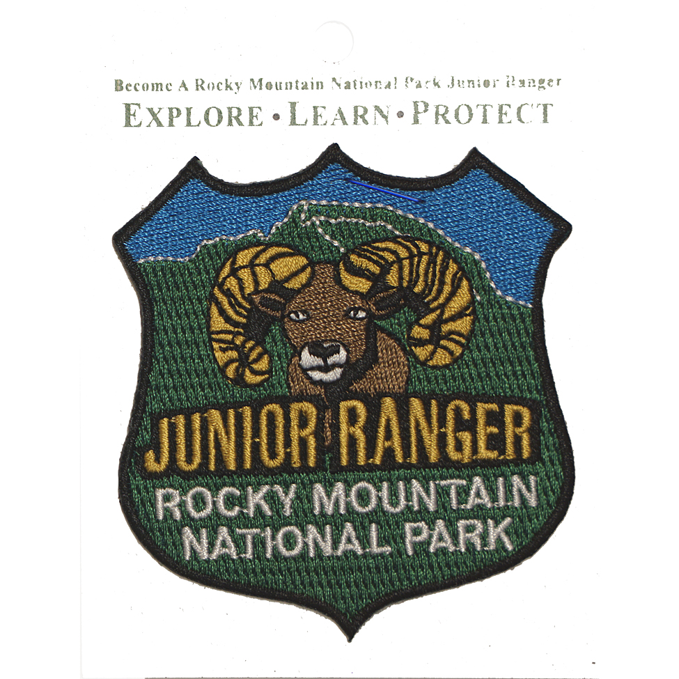 Junior Ranger Patch Rocky Mountain National Park Rocky Mountain