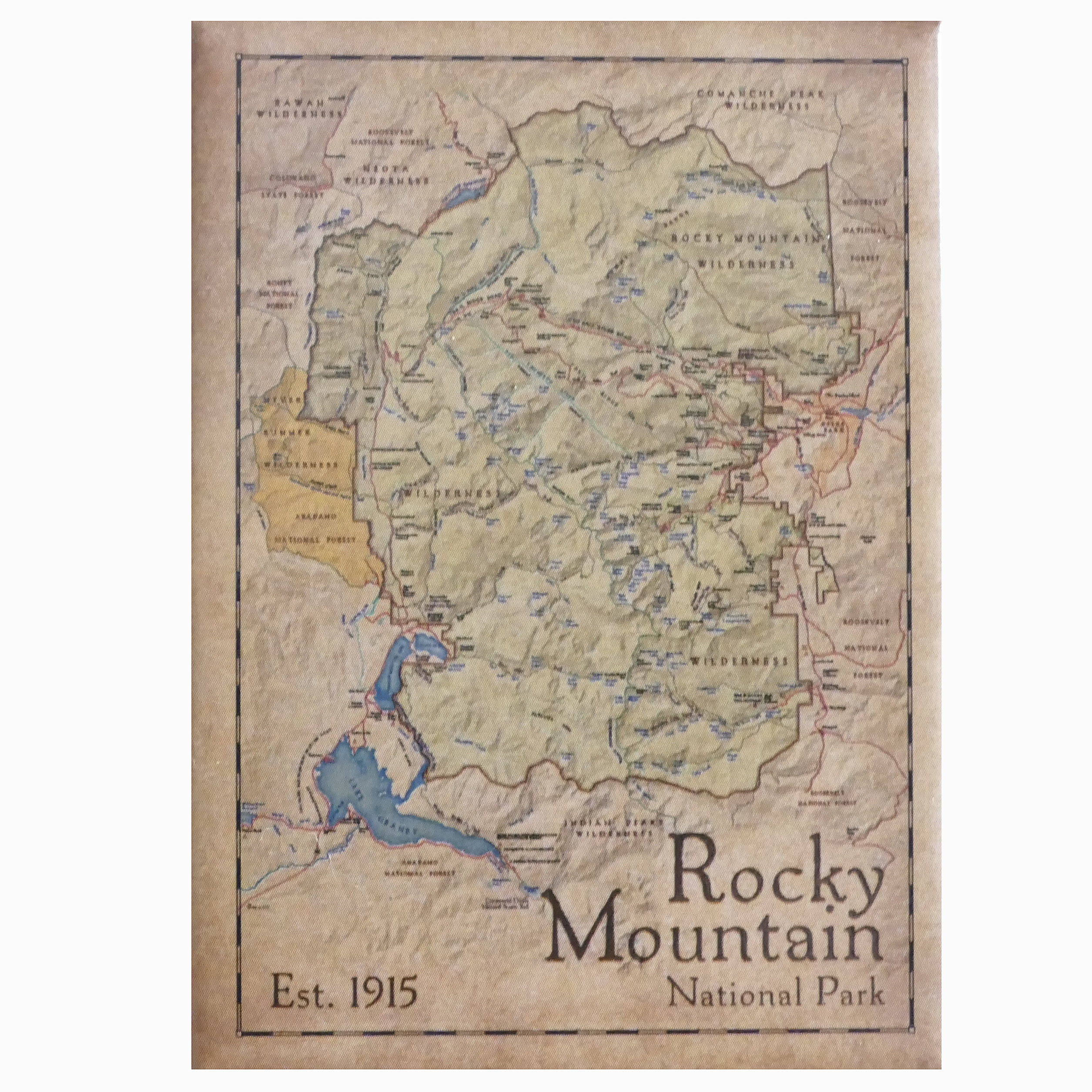 Magnet-RMNP Map on map accessories, map books, map pamphlets, map buttons, map pencils, map room decor, map puzzles, map name tags, map furniture, map post cards, map games, map throw blanket, map tools, map dry erase board, map paper, map lettering, map science projects, map invitations, map wall graphic, map watches,