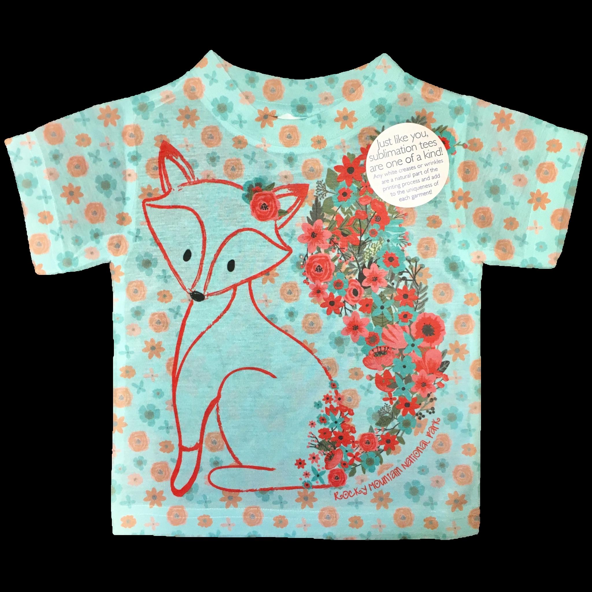 4f822e3c0 Kids Wildflower Fox T-Shirt - Rocky Mountain Conservancy