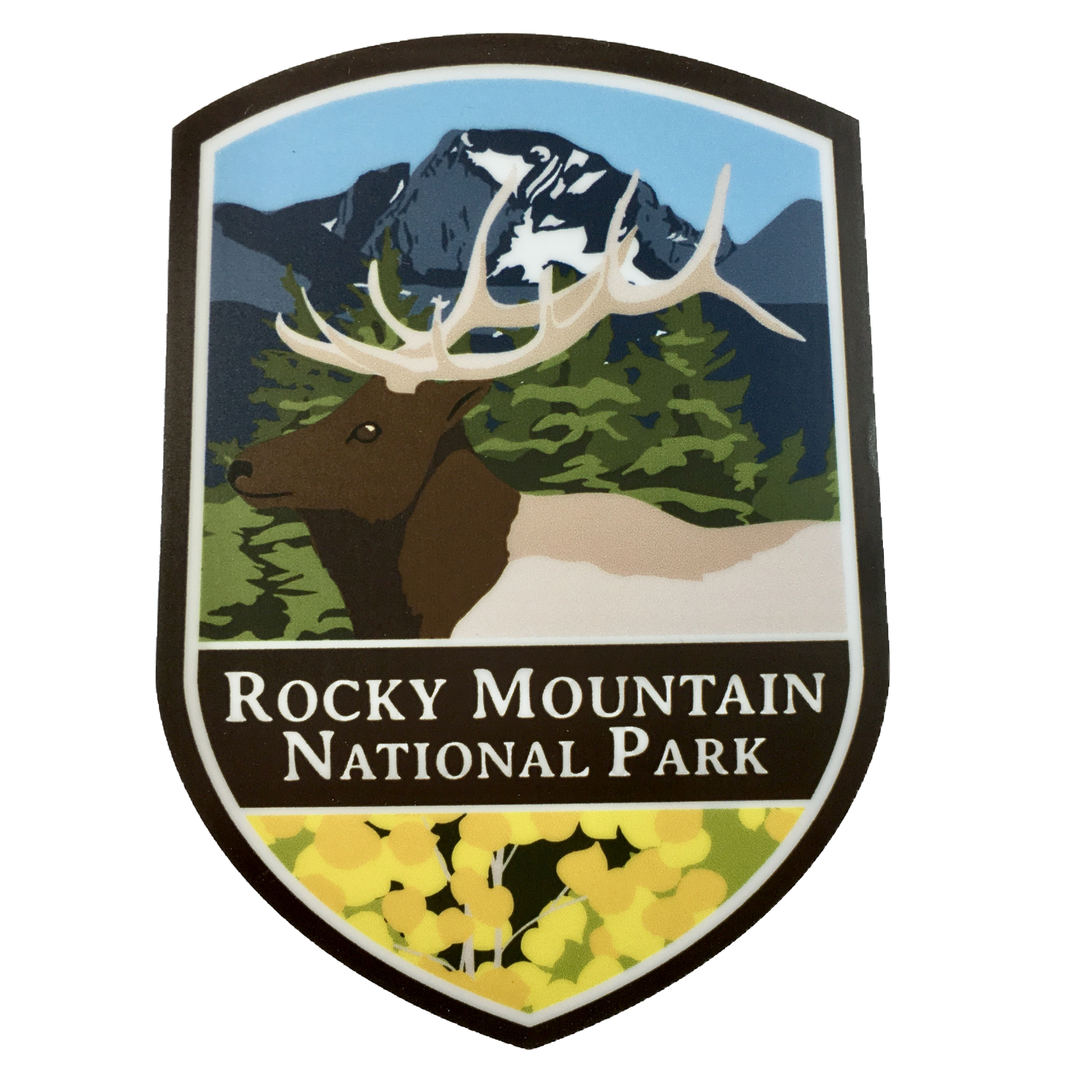 elk badge sticker