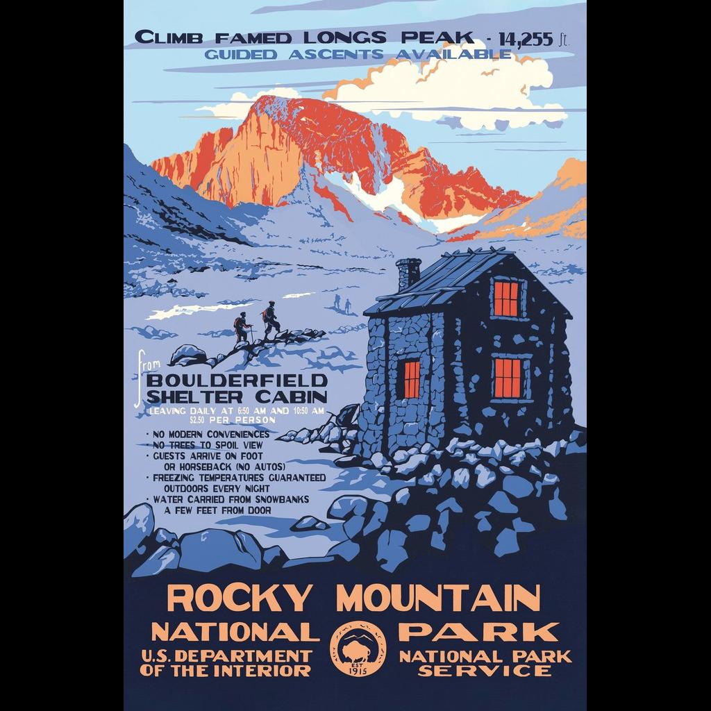 Longs Peak poster