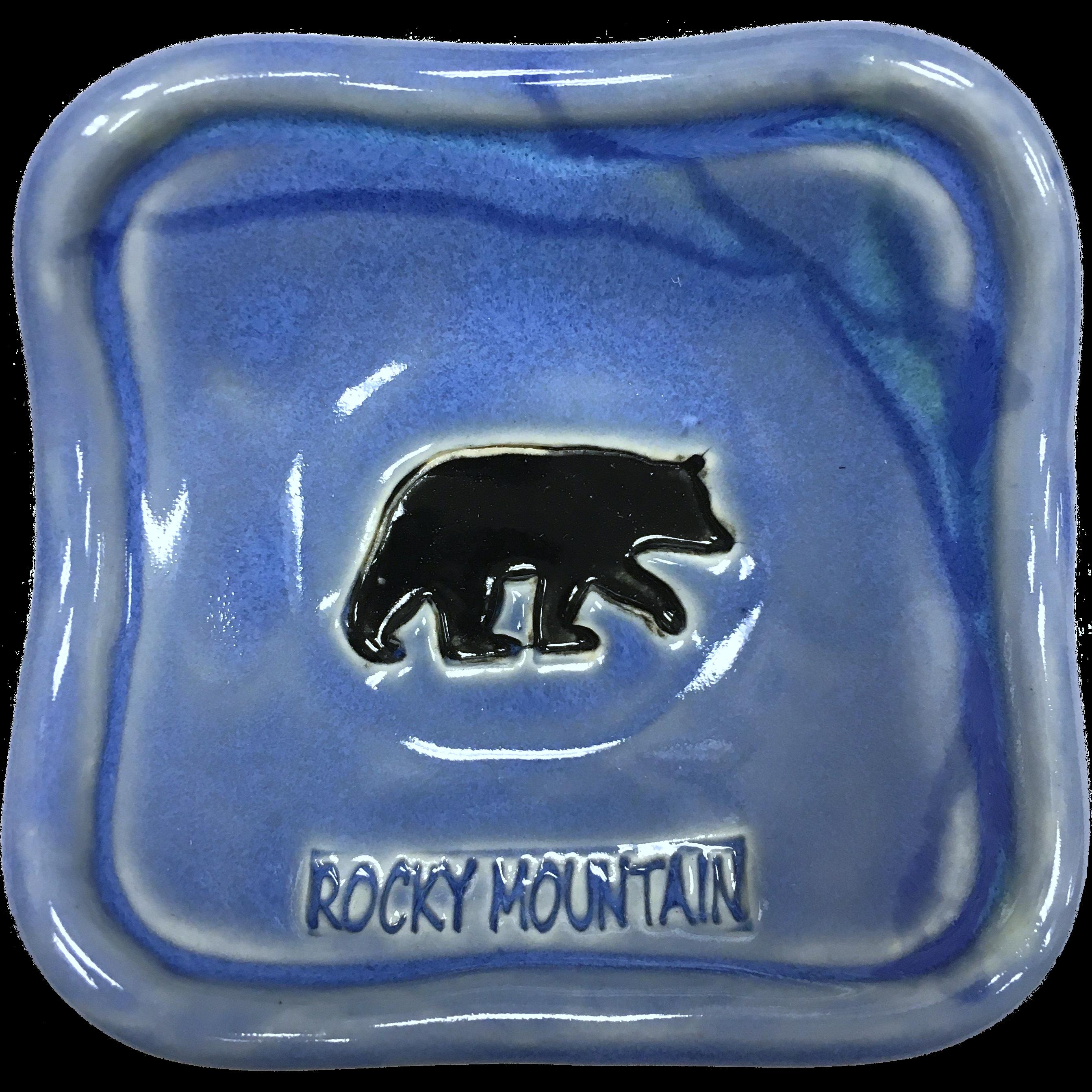 Bear dish blue