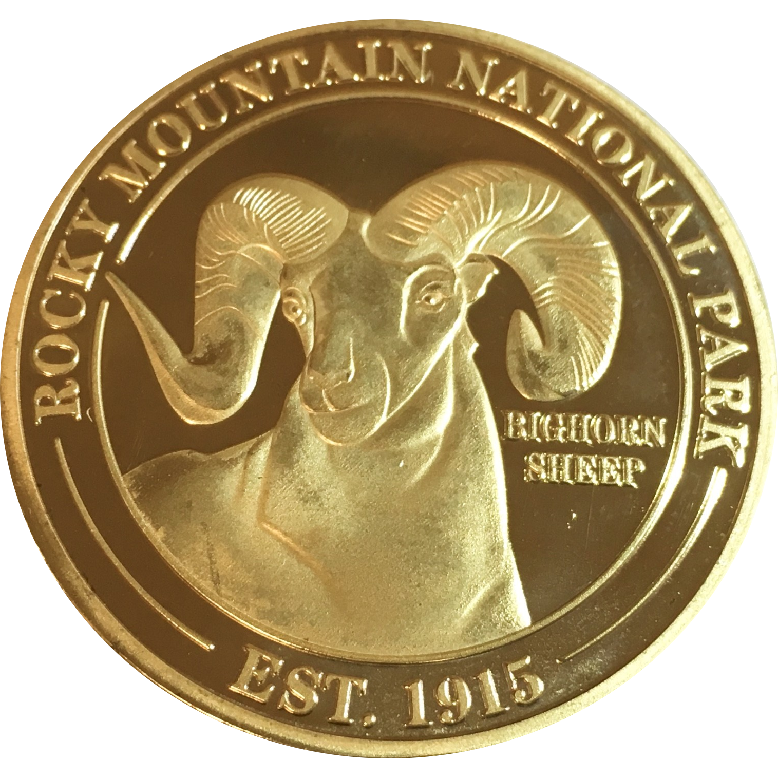 Gold coin front