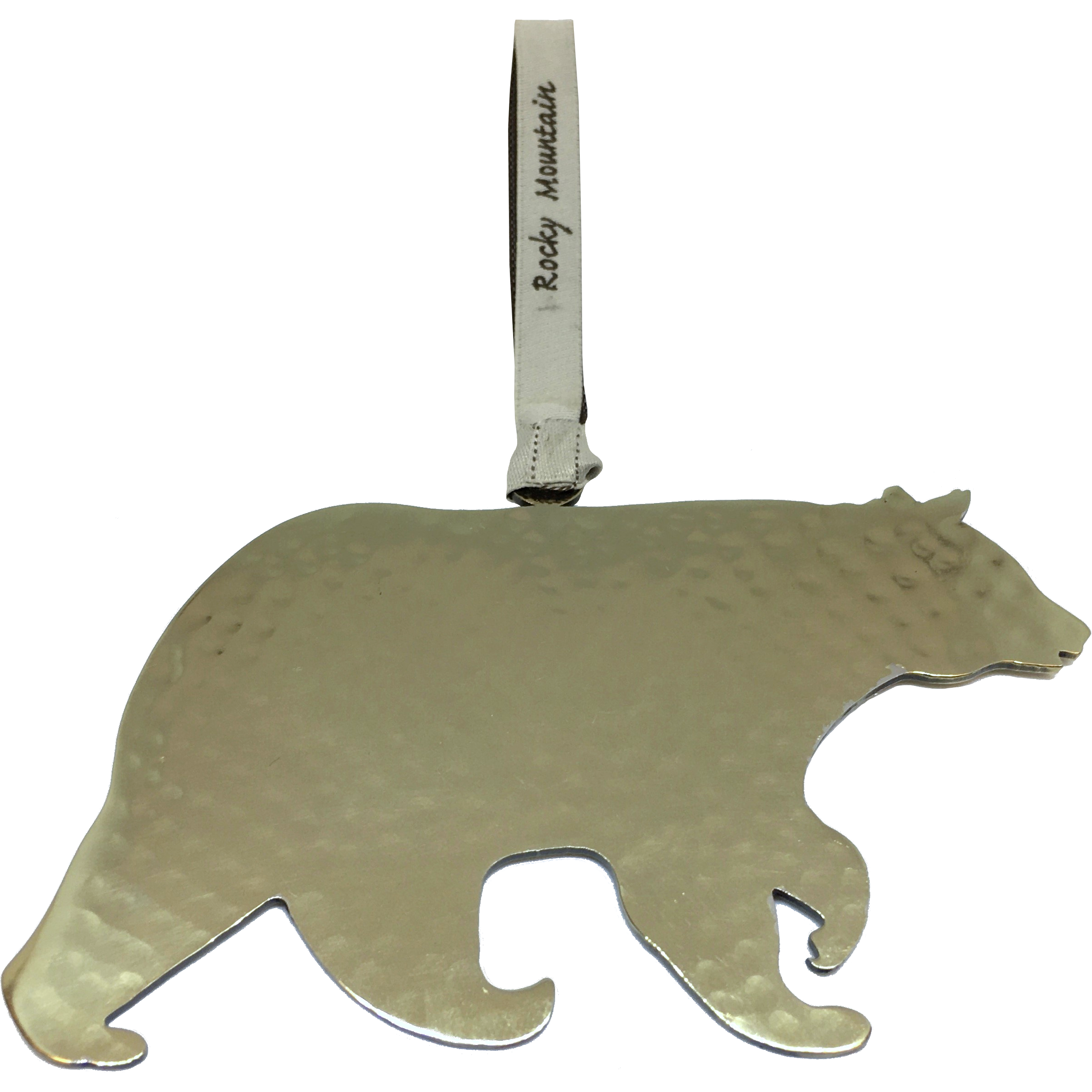 Silver bear ornament