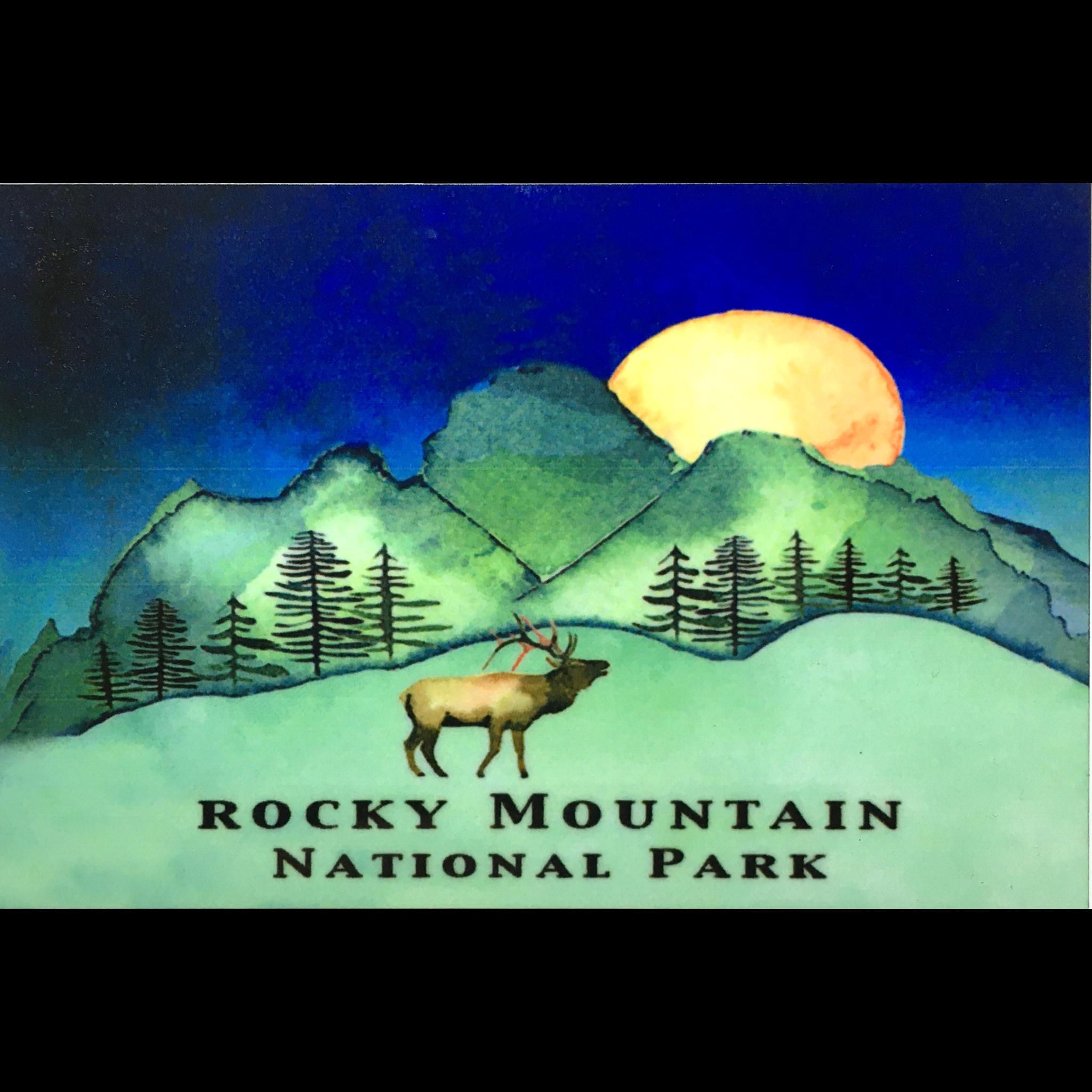 Blue Moon Elk Magnet