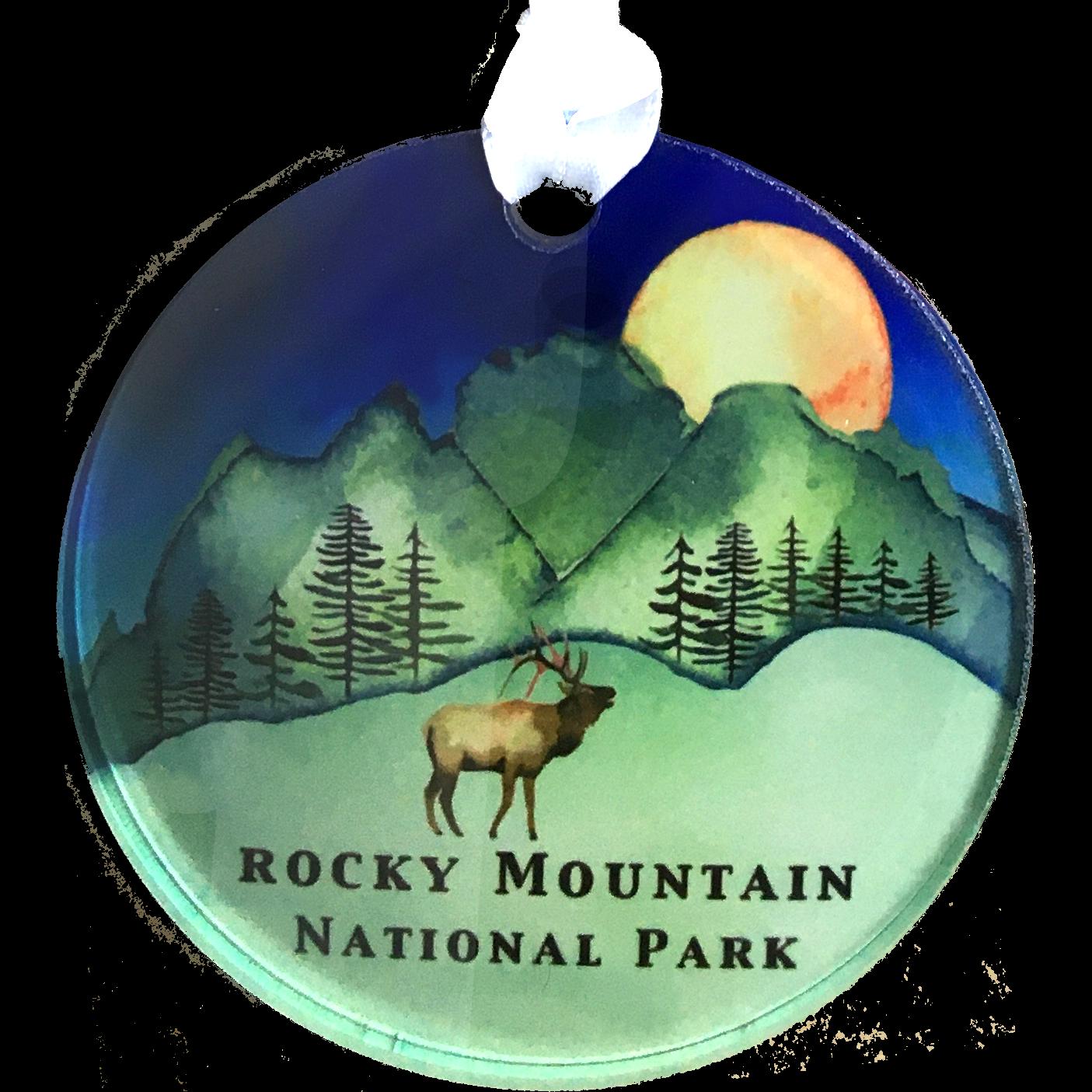 Blue Moon Elk Ornament1