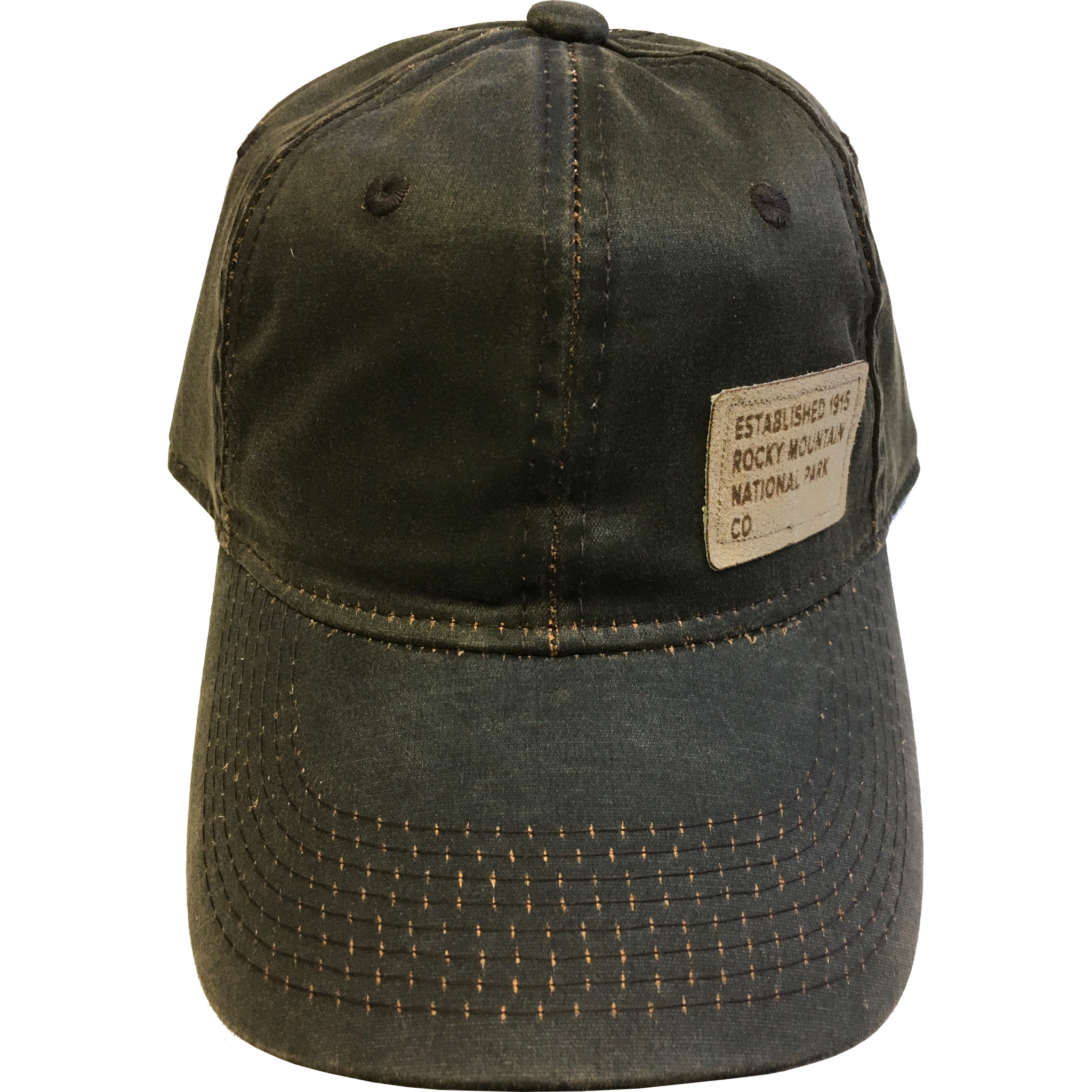 Brown square rectangle hat